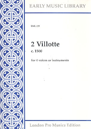 2 Villotte: for 4 voices or instruments