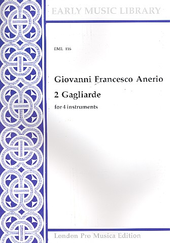 2 Gagliarde: for 4 instruments