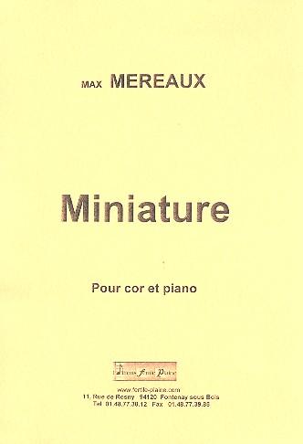 Miniature: pour cor et piano