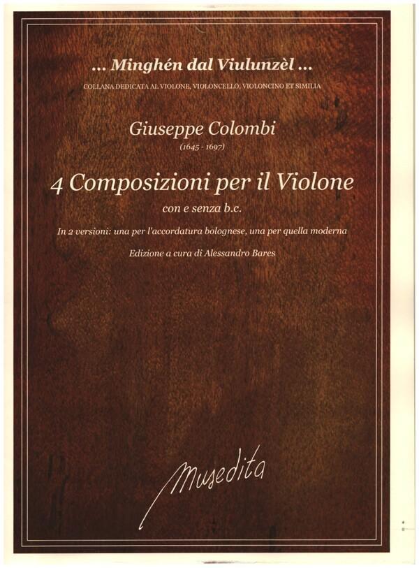 4 Composizioni per violone con e senza Bc: für Violone (Kontrabass) (z.T. mit Bc)