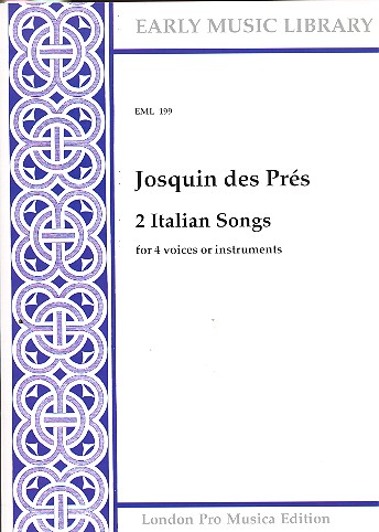 2 Italian Songs: for 4 voices (instruments) (SATB)