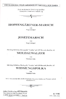 3 Walzer und ein Polka: für Blasorchester