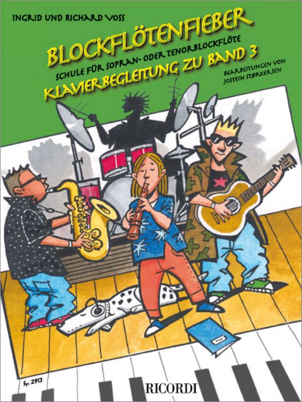 Blockflötenfieber Band 3: für Sopranblockflöte (Tenorblockflöte) und Klavier