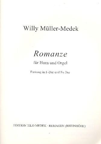 Romanze (Fassung in F-Dur und Es-Dur): für Horn in F und Orgel