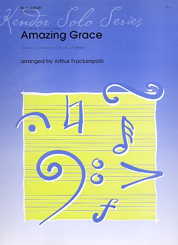 Amazing Grace: for clarinet and piano