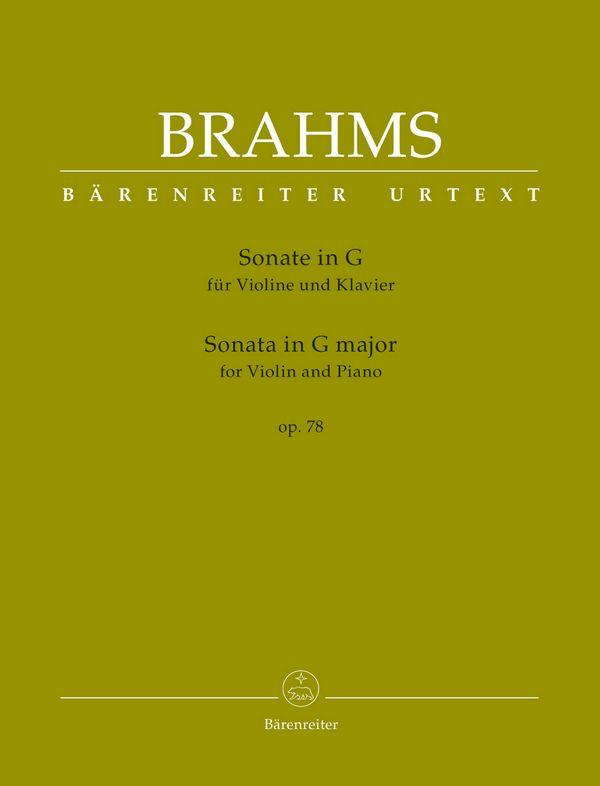 Brahms, Johannes - Sonate G-Dur op.78 :
