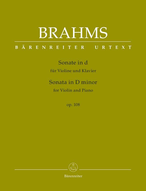 Brahms, Johannes - Sonate d-Moll op.108 :