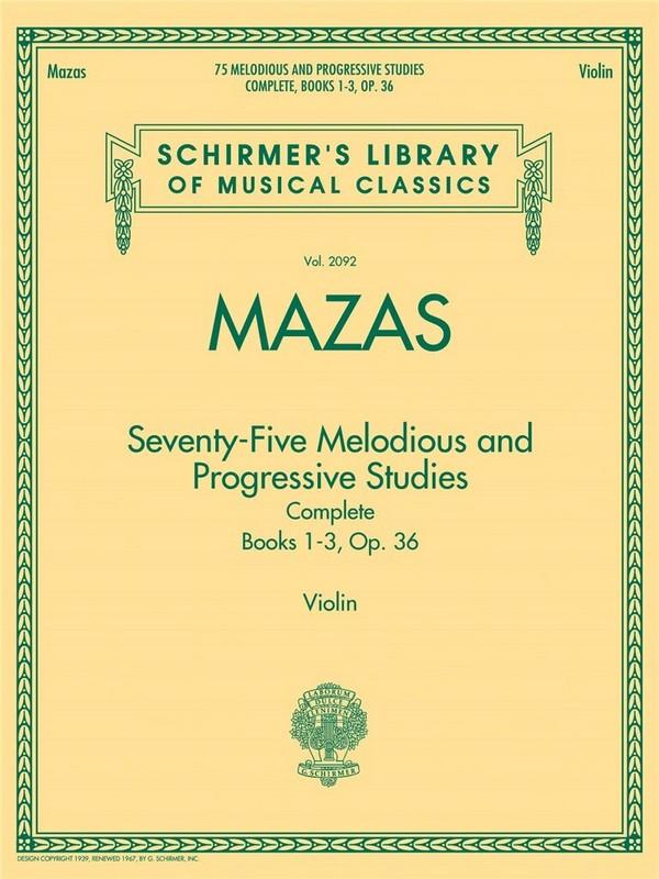 75 melodious and progressive Studies opus.36 complete (vols.1-3):