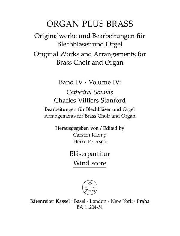 Cathedral Sounds: für Orgel und Blechbläser (Posaunenchor)