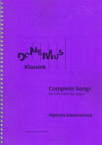 4 Lieder : für hohe Stimme und Klavier
