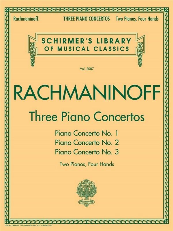 Rachmaninoff, Sergei - 3 Concertos for piano and orchestra nos.1-3 :