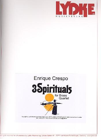 3 Spirituals: für 2 Trompeten und 2 Posaunen
