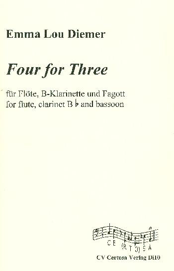 Four for Three: für Flöte, Klarinette und Fagott