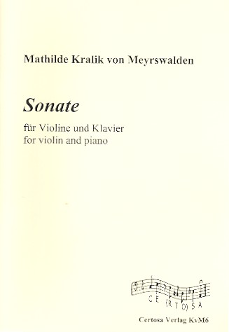 Sonate: für Violine und Klavier