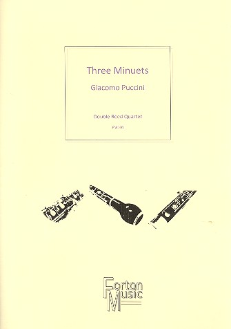 3 Minuets: for 2 oboes, cor anglais and bassoon