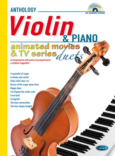 Animated Movies & TV Series (+CD): for violin and piano