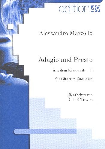 Adagio und Presto aus dem Konzert d-Moll: für Gitarren-Ensemble