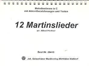 12 Martinslieder: für Bläser
