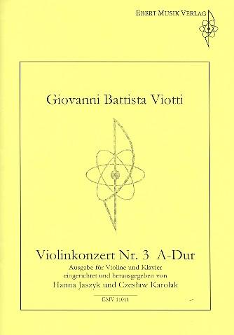 Konzert A-Dur Nr.3 für Violine und Orchester: für Violine und Klavier