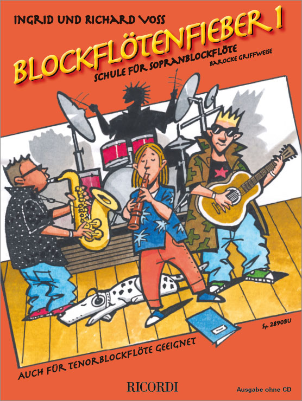 Blockflötenfieber Band 1: für Sopranblockflöte (Tenorblockflöte) (barocke Griffweise)