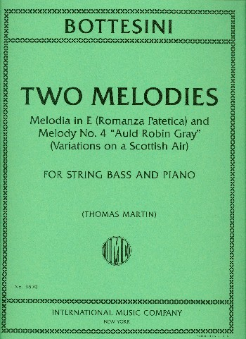 2 Melodies: for double bass and piano