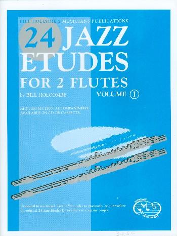 24 Jazz Etudes vol.1 (+CD): for 2 flutes