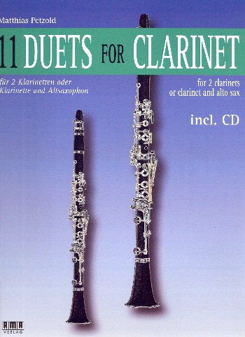 11 Duets (+CD): for 2 clarinets (clarinet and alto saxophone) (piano ad lib)