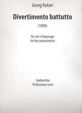 Divertimento battutto: für 4 Schlagzeuger