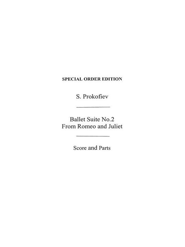 2 Dances from Romeo and Julia Suite no.2: for orchestra