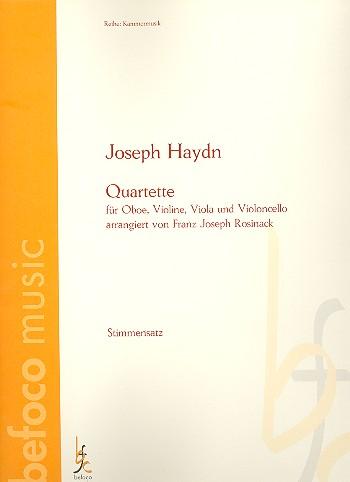 2 Quartette: für Oboe, Violine, Viola und Violoncello