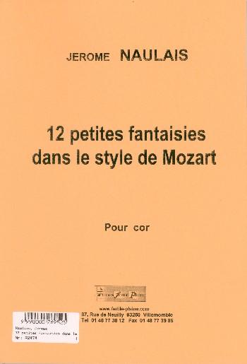 12 petites fantasisies dans le style de Mozart: