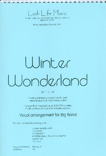 Winter Wonderland: for voice and big band