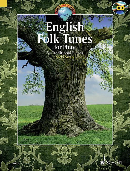 English Folk Tunes (+CD): für 1-2 Flöten