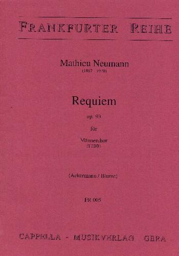 Requiem opus.93: für Männerchor a capella