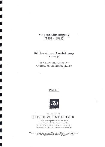 Bilder einer Ausstellung (Auszüge): für Klarinette, Horn, Fagott, 2 Violinen, Viola, Violoncello und Kontrabass