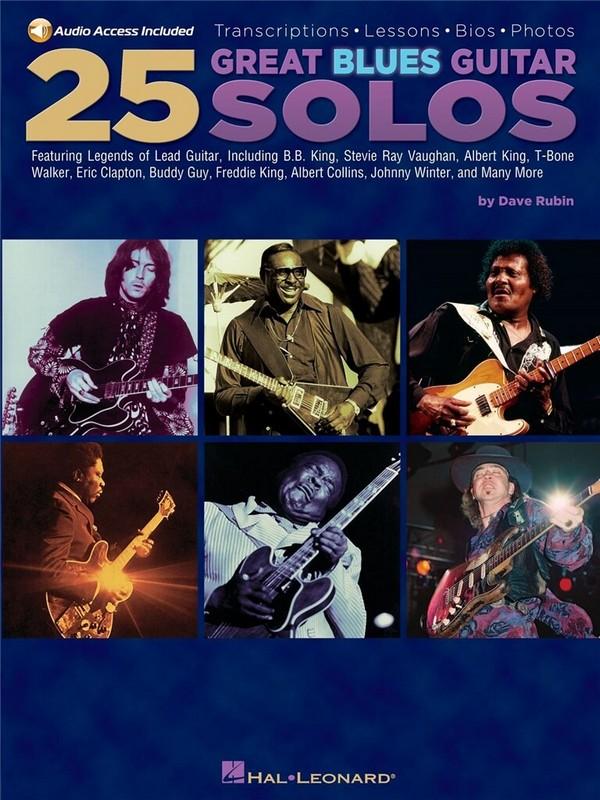 25 great Blues Guitar Solos (+CD): for guitar/tab