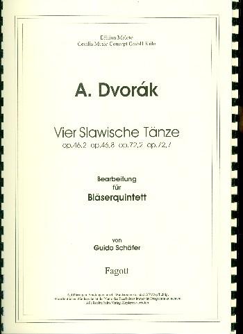 4 slawische Tänze: für Flöte, Oboe, Klarinette, Horn und Fagott