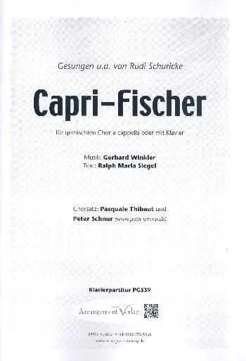 Capri-Fischer: für gem Chor und Klavier