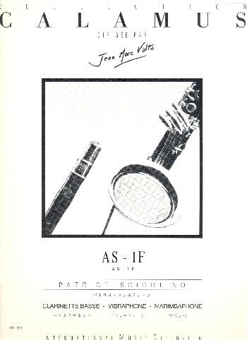Af is: für Bassklarinette, Vibraphon und Marimbaphon