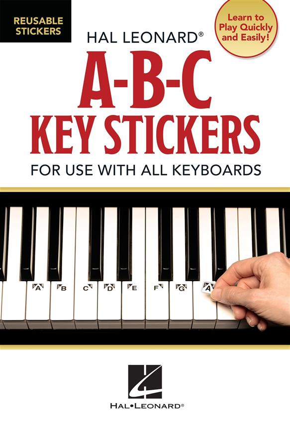 ABC Key Stickers: for use with all keyboards