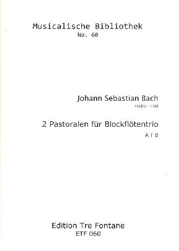 2 Pastoralen: für Blockflötentrio (ATB)
