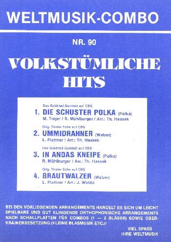Volkstümliche Hits Band 90: für Combo (Oberkrainer Besetzung)