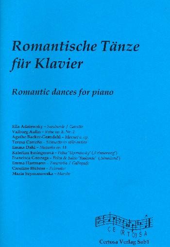 Romantische Tänze: für Klavier