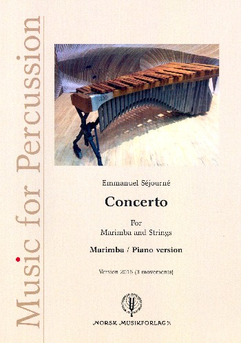 Concerto for Marimba and Strings (Version 2015): for marimba and piano