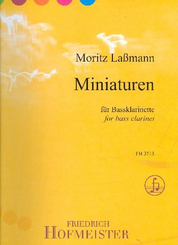 5 Miniaturen : für Baßklarinette - Vollanzeige.