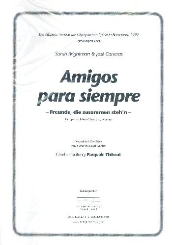 Amigos para siempre: für gem Chor und Klavier