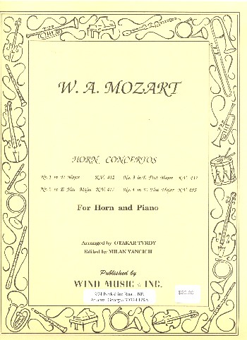 4 Concertos KV412, KV417, KV447, KV495: for horn and orchestra