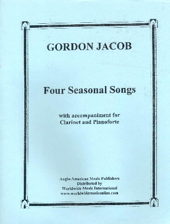 4 seasonal Songs: for soprano, clarinet, piano