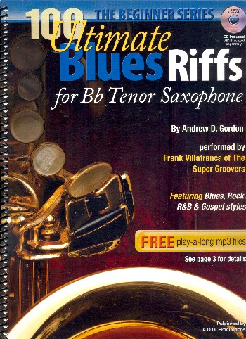 100 ultimate Blues Riffs (+CD): for tenor saxophone