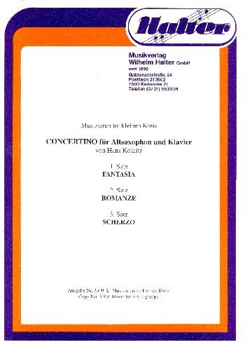 Concertino: für Altsaxophon und Klavier